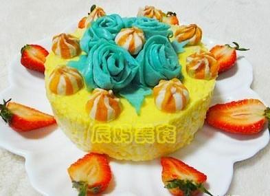 米饭版蓝妖慕斯蛋糕的做法