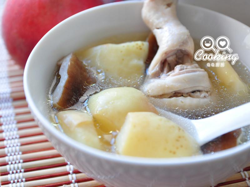 蜜桃香菇鸡汤