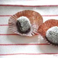 抹茶红豆糯米糍的做法