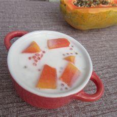木瓜牛奶西米露的做法