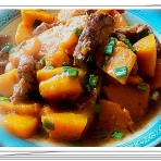 南瓜焖猪肉