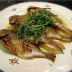 柠汁煎小海鱼