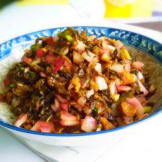 农家洋葱炒酸菜的做法