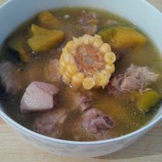 排骨南瓜玉米汤的做法