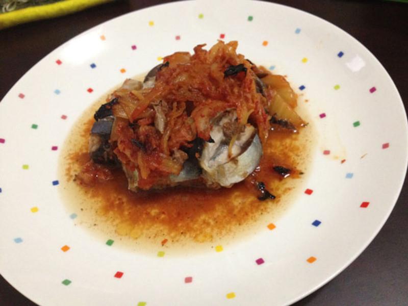 泡菜秋刀鱼