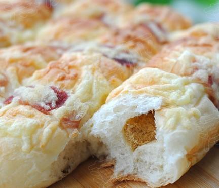 培根芝士肉松面包条