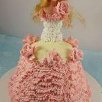 漂亮芭比娃娃蛋糕的做法