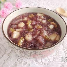 苹果葡萄紫米粥