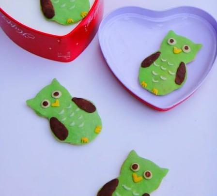 巧克力猫头鹰饼干