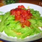 茄汁拌凉瓜的做法
