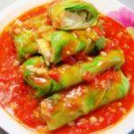 茄汁豆腐包菜卷