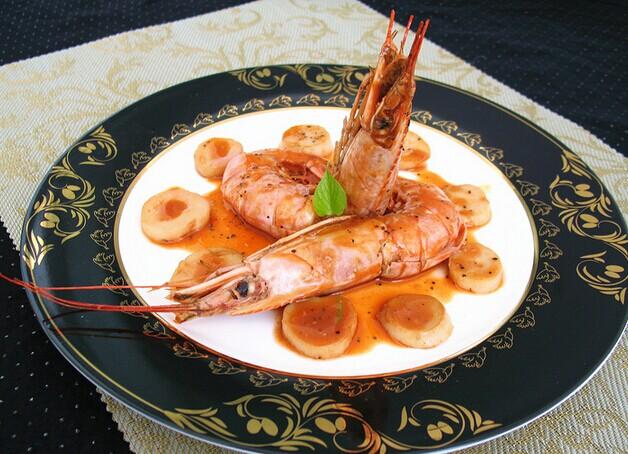 茄汁红酒大虾