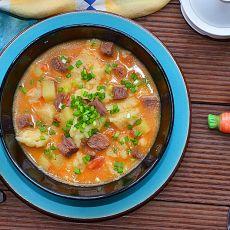 茄汁牛肉疙瘩汤