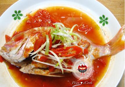 茄汁蒸鲜鱼