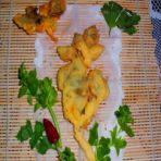 芹菜叶炸饼