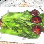 青菜柳炒香菇