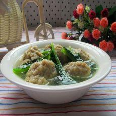 青菜肉丸汤的做法