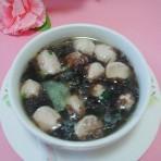 青瓜紫菜肉丸汤