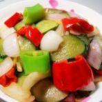 青红椒炒黄瓜