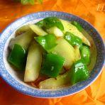 青椒炒黄瓜的做法