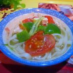 青椒豆腐素面汤