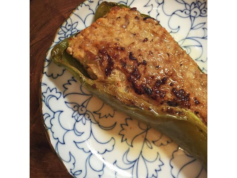 青椒让肉的做法