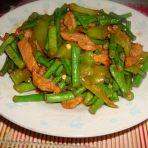 青椒肉丝豆角的做法
