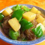 青椒土豆炖粉条