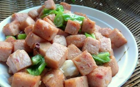 青椒午餐肉