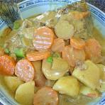 青咖喱三文鱼头的做法