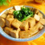 芹叶蚝油炖豆腐