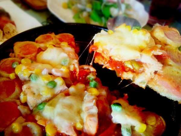 全麦三文鱼花边披萨
