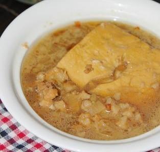 肉末卤葱花豆腐