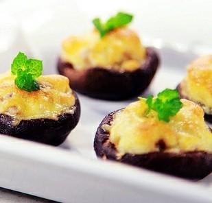 肉末乳酪焗香菇的做法