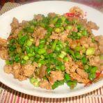 肉末蒜苔丁