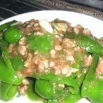 肉末甜椒的做法