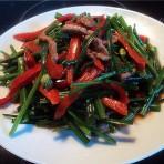 肉丝炒韭菜花的做法