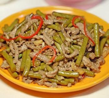肉丝炒酸豇豆