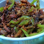 肉丝辣椒炒甜梅菜