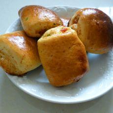 肉松烤肠面包