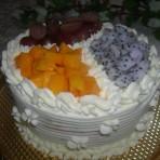 三色水果奶油蛋糕