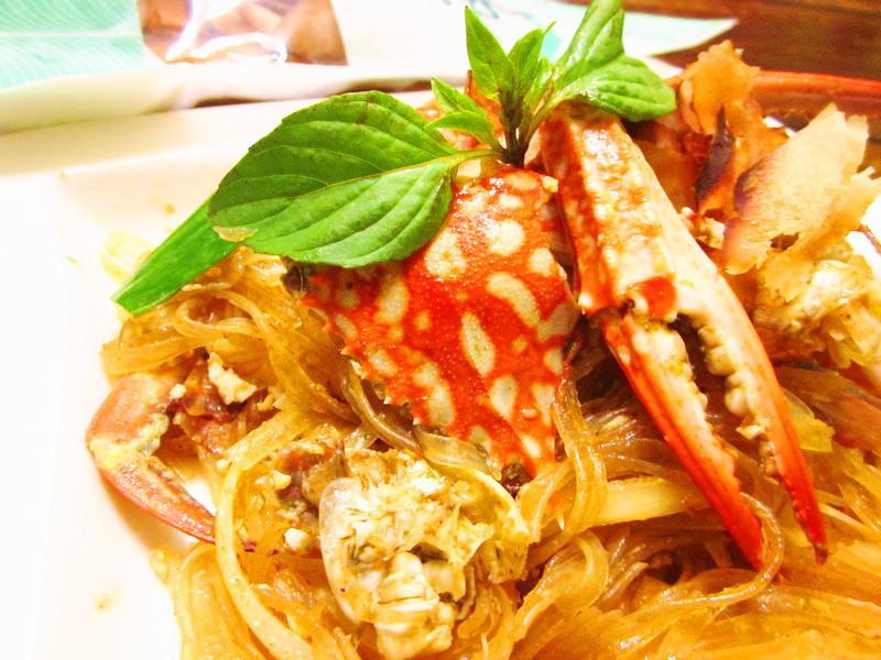 沙茶蟹肉粉丝煲