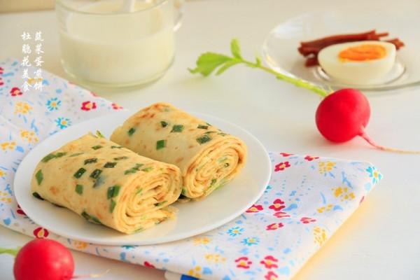 十分钟快手早餐~蔬菜蛋煎饼