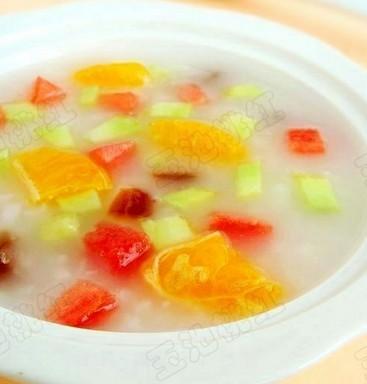 什锦水果粥的做法