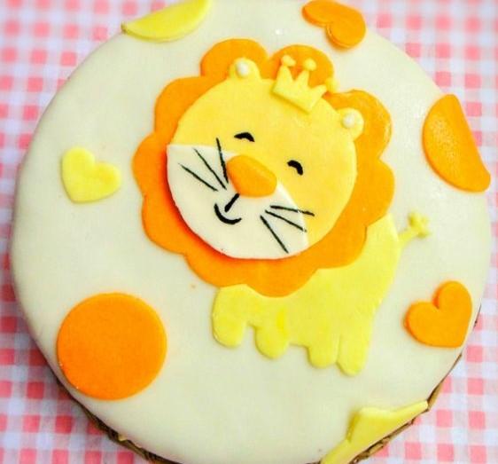 狮子座翻糖蛋糕