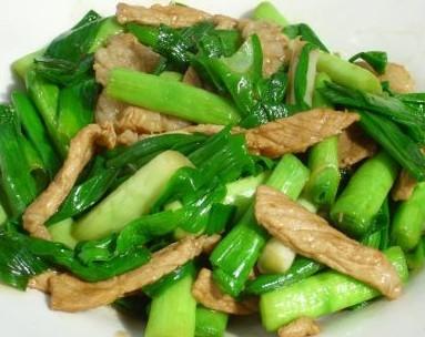 瘦肉炒青蒜