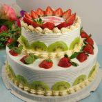 双层水果奶油蛋糕