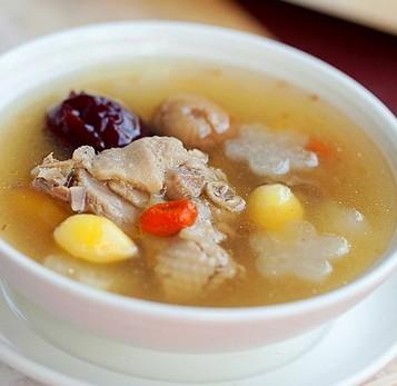 双果土鸭汤的做法