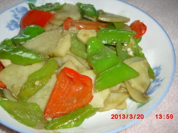 双椒土豆片