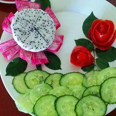 水果花朵的做法